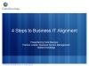 4 Steps to Business IT Alignment