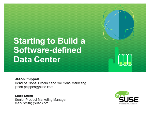 Starting to Build your Software-defined Data Center