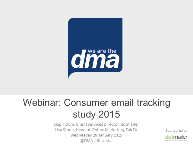 Webinar: Consumer email tracking study 2015