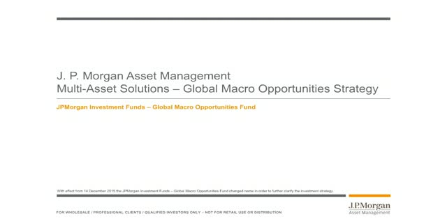JPM Global Macro Opportunities Fund
