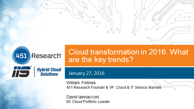 Cloud transformation in 2016. What are the key trends?