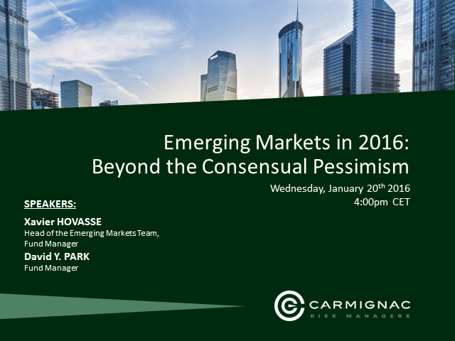 Emerging Markets in 2016: Beyond the Consensual Pessimism