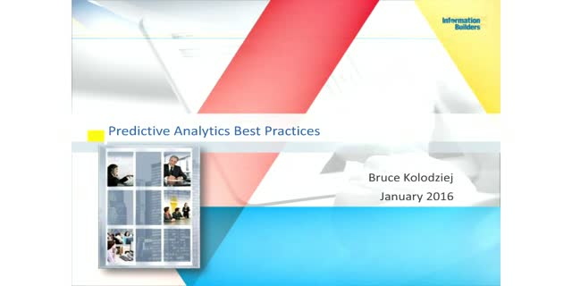 Predictive Analytics Best Practices
