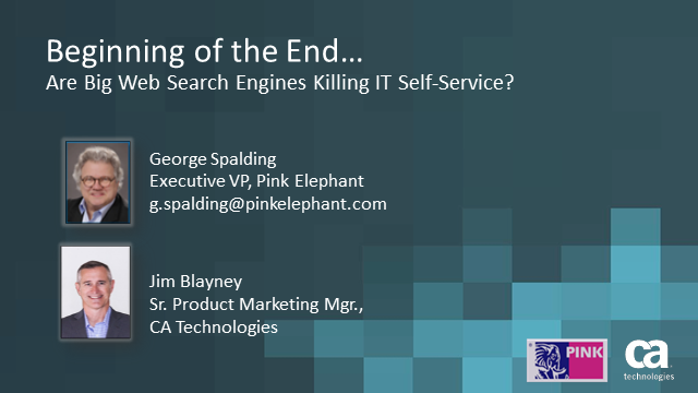 Are Big Web Search Engines Killing IT Self-Service?