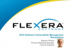 2016 Software Vulnerability Management Resolutions