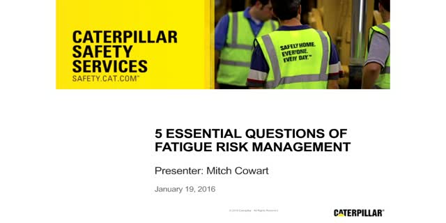 5 Essential Questions of Fatigue Risk Management