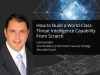 How to Build a World-Class Threat Intelligence Capability From Scratch