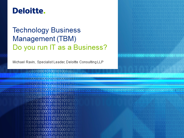 Technology Business Management (TBM): How to Run IT As A Business?