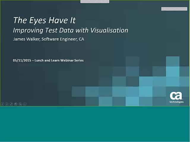 The eyes have it – Improving Test Data with visualization Live Demo