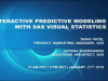 Interactive Predictive Modeling With SAS Visual Statistics