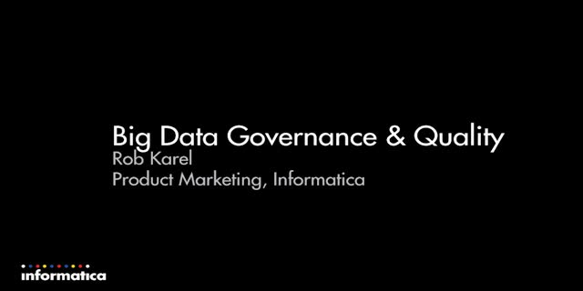 Big Data Governance and Quality