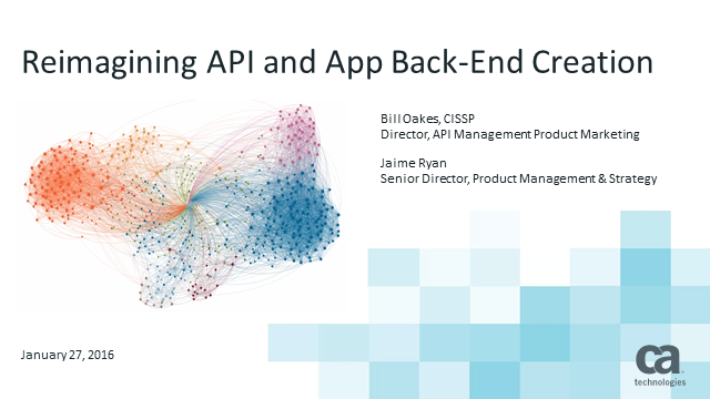 Reimagining API and Application Back-End Creation