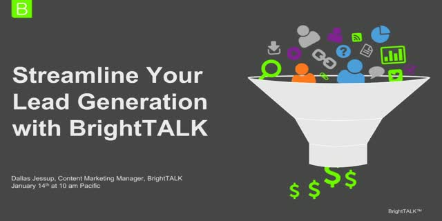 Streamline Your Lead Generation with BrightTALK