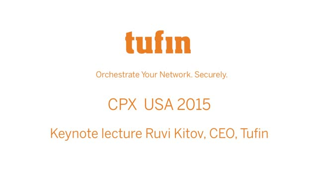 Keynote Lecture at CPX USA | Ruvi Kitov, CEO, Tufin