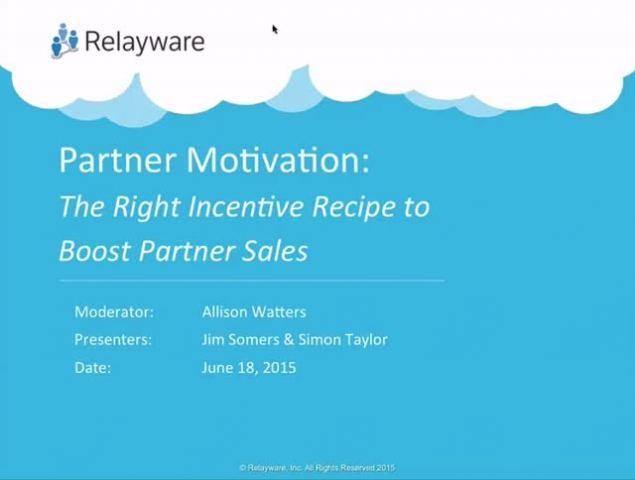 The Incentive Recipe to Boost Partner Motivation and Sales
