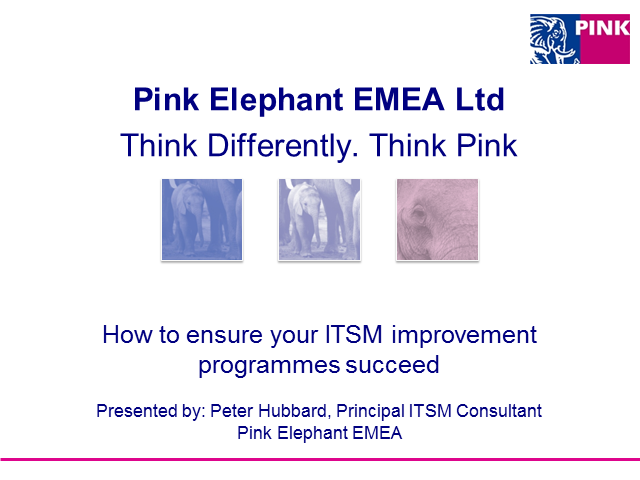 How to ensure your ITSM improvement programmes succeed