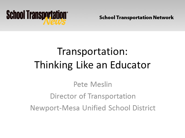 Transportation:Thinking Like an Educator