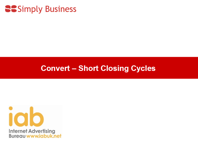 Conversion in short cycle B2B sectors