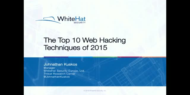 Top 10 Web Hacking Techniques of 2015