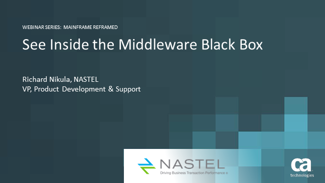 See Inside the Middleware Black Box
