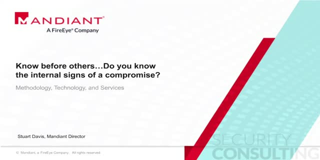 Know before others…do you know the internal signs of a compromise?
