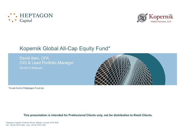 Kopernik Global All-Cap Equity Fund Q4 2015 Webcast