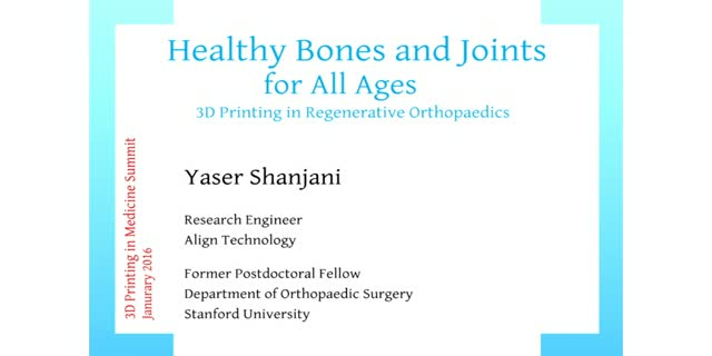 3D printing in Regenerative Orthopedics
