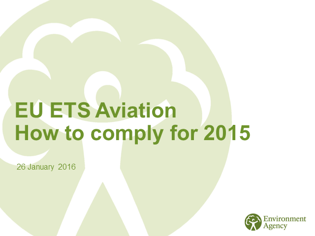 EU ETS Aviation - How to comply for 2015