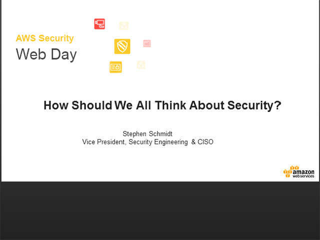 How Should We All Think About Security?