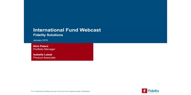 International Fund: Capturing multiple sources of uncorrelated alpha