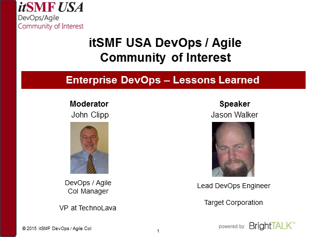 Enterprise DevOps – Lessons Learned