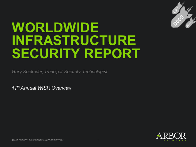 2016 Annual Worldwide Infrastructure Security Update