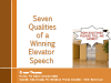 7 Qualities of a Winning Data Governance Elevator Speech