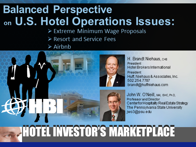 Balanced Perspective on U.S. Hotel Operations Issues