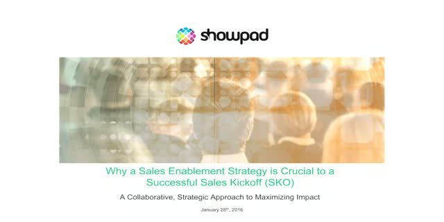 Why a Sales Enablement Strategy Is Crucial to a Successful SKO