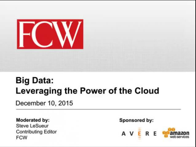 Big Data: Leveraging the Power of the Cloud
