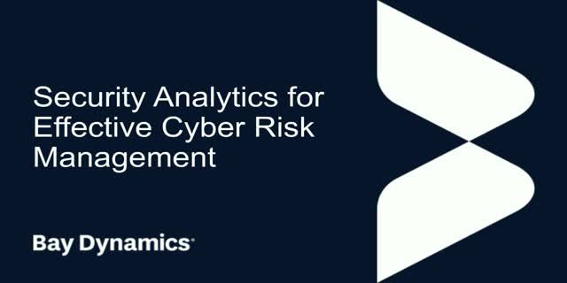 Security Analytics for Effective Cyber Risk Management