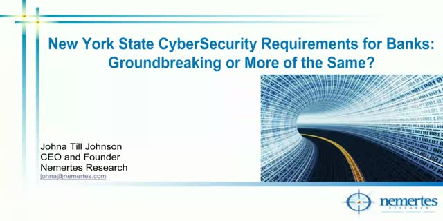 NY State Cybersecurity Requirements for Financial Firms: Why Should You Care?