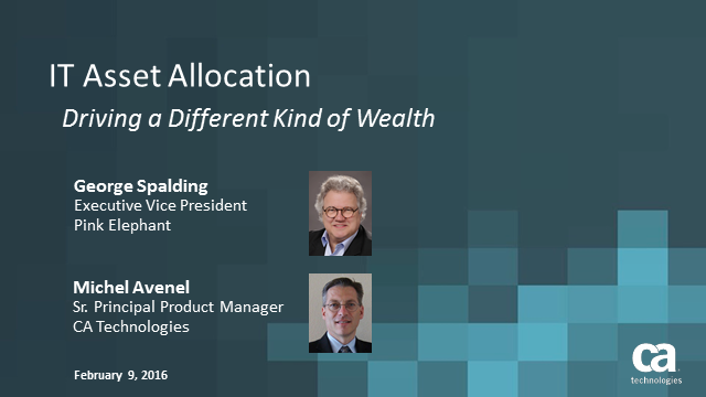 IT Asset Allocation: Driving a Different Kind of Wealth