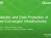 Availability and Data Protection of Hyper-Converged Infrastructures