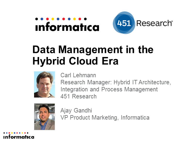 Data Management in the Hybrid Cloud Era