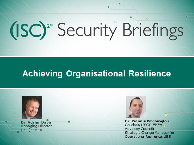 Achieving Organisational Resilience