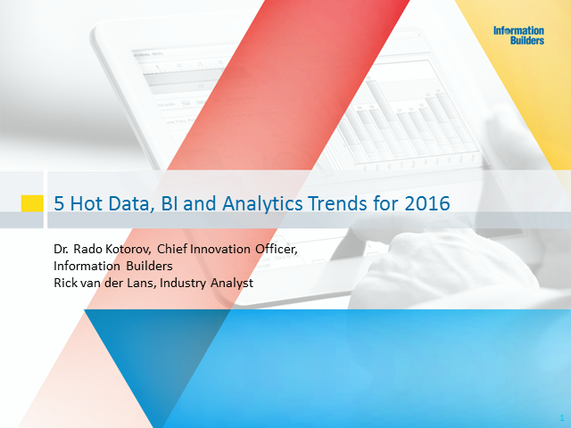 5 Hot Data, BI and Analytics Trends for 2016