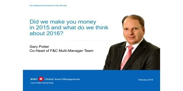 Did we make you money in 2015 and what do we think about 2016?