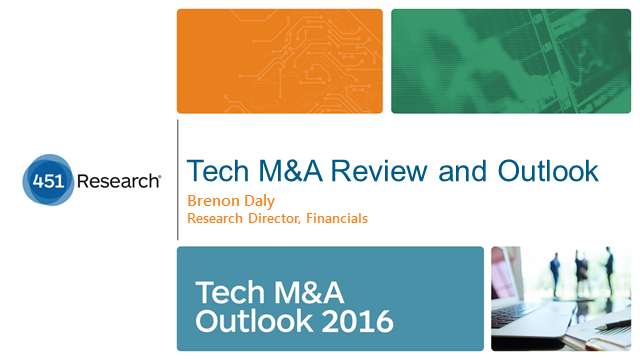Tech M&A Outlook 2016