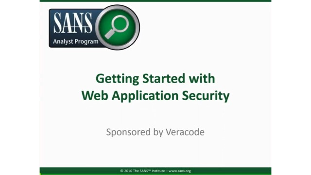 Getting Started with Web Application Security