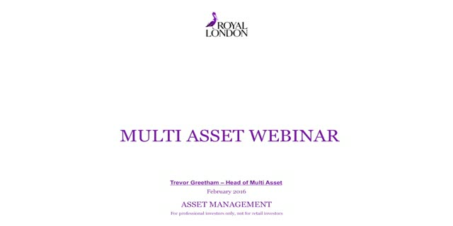 Quarterly Multi Asset Webinar