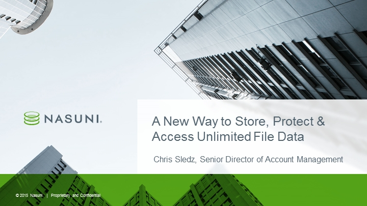 A New Way to Store, Protect & Access Unlimited File Data
