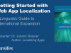 Getting Started with Web App Localization