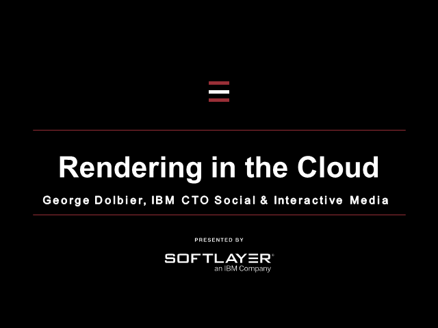 Rendering in the cloud